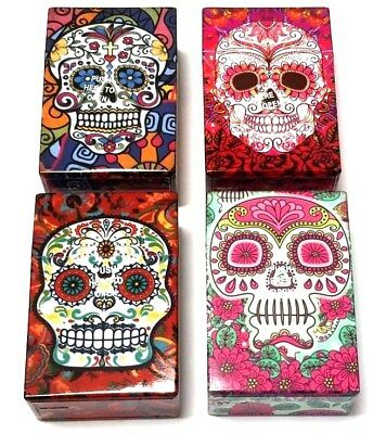 Skull Aztec King Size Cigarette Strong Plastic Box Case Holder Cigarettes Pack