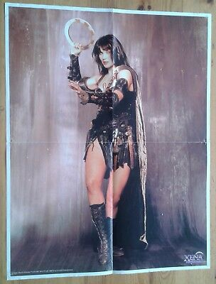 Fold out poster of Lucy Lawless as Xena Warrior Princess ~17x22 inches