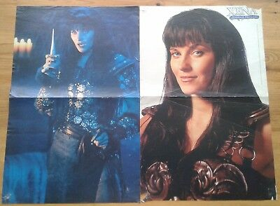 2 single sided posters Lucy Lawless as Xena Warrior Princess ~11.5x18 inches 2