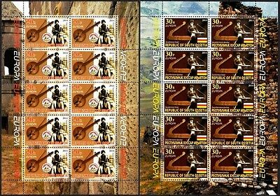 GEORGIA / Ossetia 2014 EUROPA: Musical Instruments. MINI-SHEETS Perforated MNH