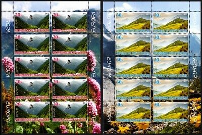 GEORGIA / Ossetia 2011 EUROPA: Forest. 2 SHEETS in BOOKLET Perforated, MNH