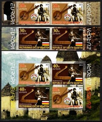GEORGIA / Ossetia 2014 EUROPA: Musical Instruments. Set & S/Sh. IMPERFORATE, MNH