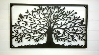 Large Iron Tree Metal Wall Art Leaves Hanging Sculpture Home Garden Decor
