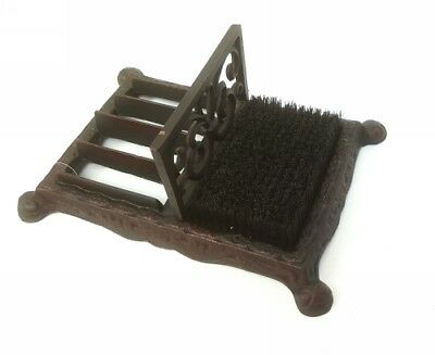 Vintage Style Iron Double Boot Cleaner Scraper Bristles Metal Home Garden Decor