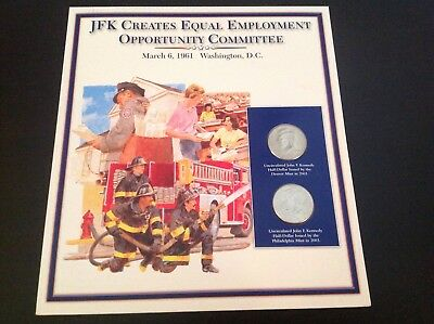 JFK half dollar coin and stamp collection - Creates equal employment