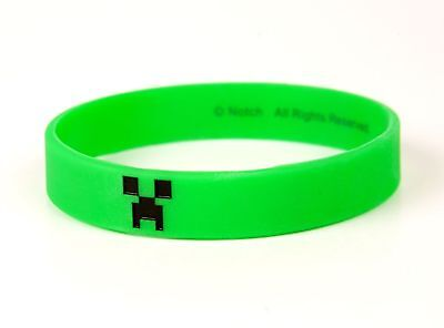 Minecraft Official Wristband Bracelet  Creeper Kids Size New
