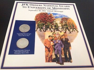 JFK half dollar coin and stamp collection - JFK orders national guard