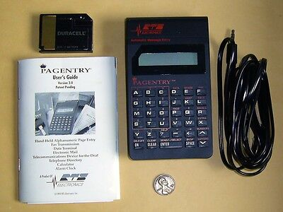 Vintage 1992 PAGENTRY Hand-Held Message Entry System-Made in U.S.A.