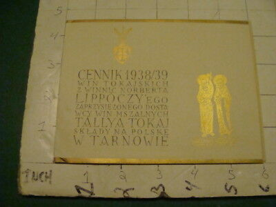 Vintage Original papers: POLISH CARD & Papers - 1938/1939 TARNOW i show all