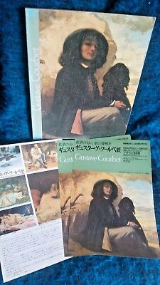Gustave Courbet Japan Exhibition Catalog 1989 w/flyers