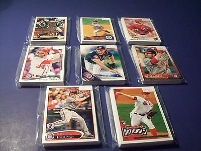 Washington Nationals lot of 8 Topps team sets 2016,2015,2014,2013,2012,2011-09