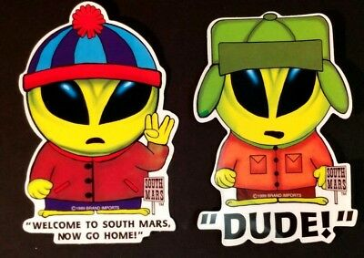 44 South Mars Aliens Martians Spoof Of South Park Stickers 1999 Brand Imports