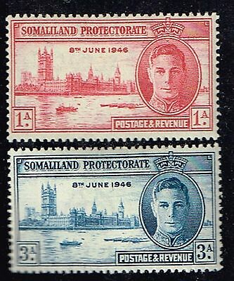 1946 Somaliland Protectorate Peace Set Mint Lightly Hinged