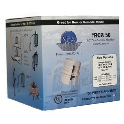 """Romex connector 1/2"""" SEA RCR50 NM-B Sheathed Cable Connector SEA (Qty 500)"""