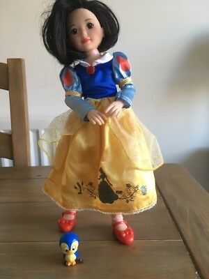 """Zapf Creations 14""""  Fully Articulated Snow White Doll With Bird"""
