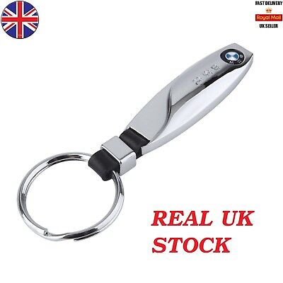 2017 Bmw Chrome M Sport Key Ring Keyring Fob Chain Car  + Free Uk Delivery