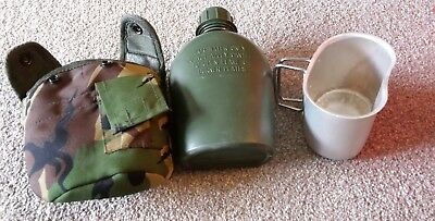 Camouflage water bottle and mess tin girls boys eg ideal army cadets DofE etc
