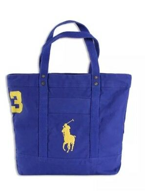 Polo Ralph Lauren Pony Big Canvas Tote Bag Rugby Royal Blue