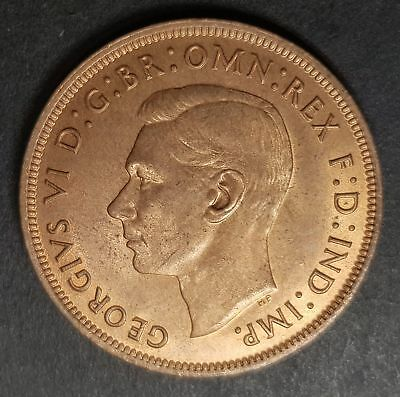 UNCIRCULATED 1937 George VI 1d One Penny Coin  - Great Britain very good detail