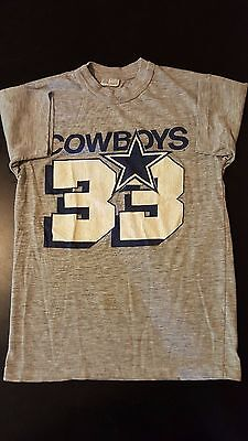 Vintage 70s 80s Dallas Cowboys Tony Dorsett 33 Jersey T-Shirt NFL Football Dak