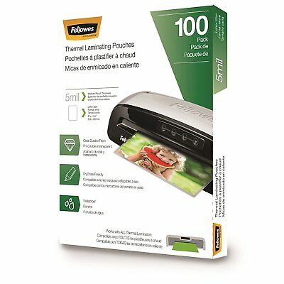 Fellowes Laminating Pouches, Letter Size, 5 mil, 100 pack 5743501