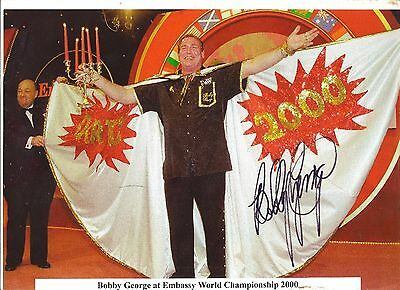Signed Picture Of Bobby George