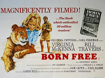 """Born Free 16"""" x 12"""" Reproduction Movie Poster Photograph"""