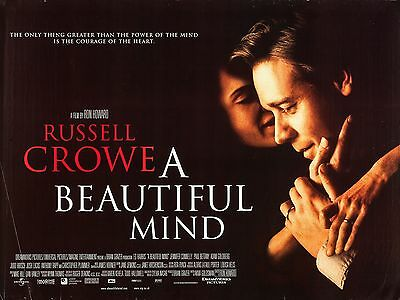 """A Beautiful Mind 16"""" x 12"""" Reproduction Movie Poster Photograph"""