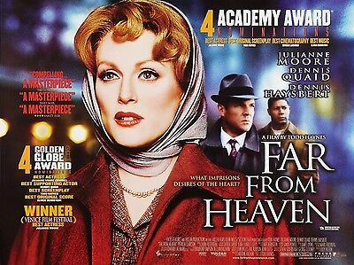 """Far from Heaven 16"""" x 12"""" Reproduction Movie Poster Photograph"""