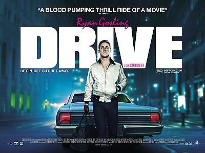 """Drive 16"""" x 12"""" Reproduction Movie Poster Photograph"""