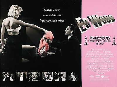 """Ed Wood 16"""" x 12"""" Reproduction Movie Poster Photograph"""