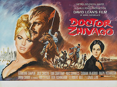 """Doctor Zhivago 1965 16"""" x 12"""" Reproduction Movie Poster Photograph"""