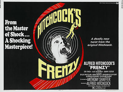 """Frenzy 1972 16"""" x 12"""" Reproduction Movie Poster Photograph"""