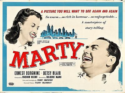 """Marty 16"""" x 12"""" Reproduction Movie Poster Photograph"""