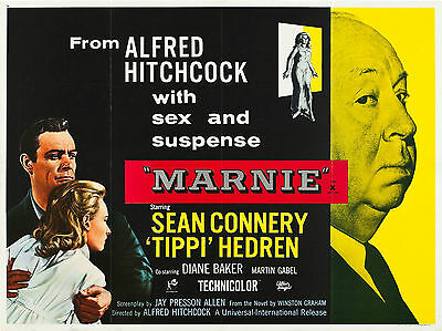 """Marnie 1964 16"""" x 12"""" Reproduction Movie Poster Photograph"""