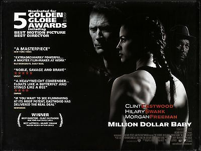"""Million Dollar Baby 16"""" x 12"""" Reproduction Movie Poster Photograph"""