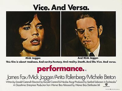 """Performance 16"""" x 12"""" Reproduction Movie Poster Photograph"""