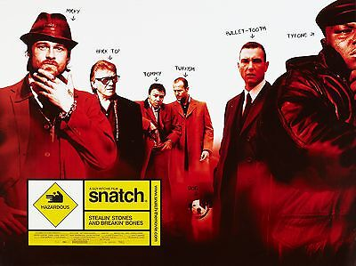 """Snatch 2000 16"""" x 12"""" Reproduction Movie Poster Photograph"""