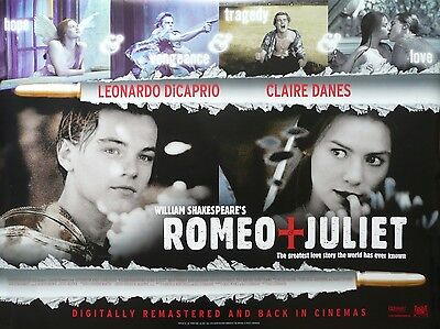 """Romeo and Juliet 16"""" x 12"""" Reproduction Movie Poster Photograph"""