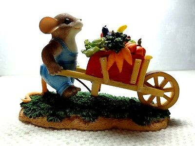 """Fitz & Floyd Charming Tails """"We Reap What We Sow"""" Item 85/526"""