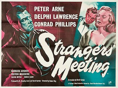 """Strangers Meeting 16"""" x 12"""" Reproduction Movie Poster Photograph"""