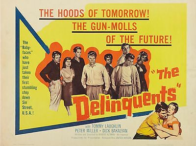 """The Delinquents 16"""" x 12"""" Reproduction Movie Poster Photograph"""