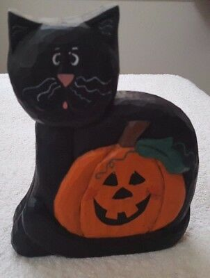 Midwest of Cannon Falls Eddie Walker Halloween Large Black Cat with Pumpkin