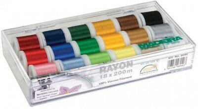 18-Spool Practical Thread Multi-Colors Gift Sewing Accessory Box with Rayon