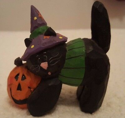 Midwest of Cannon Falls Eddie Walker Black Halloween Cat with Pumpkin