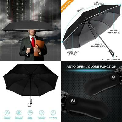 strong Automatic Travel Umbrella Auto Open/Close Windproof Anti UV women/men for