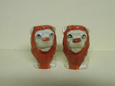 Vintage Luster Lion/Cat Salt & Pepper Shakers (Germany)