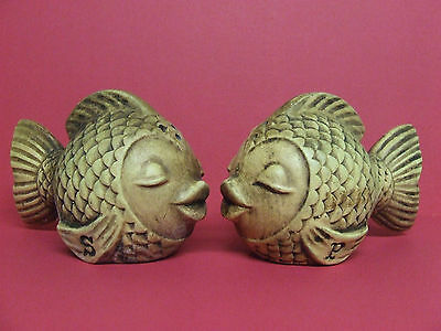 Vintage Kissing Fish Salt & Pepper Shakers