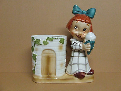 Vintage Kreiss(?) Planter Little Red Headed Girl w/Ice Cream Cone (Japan)