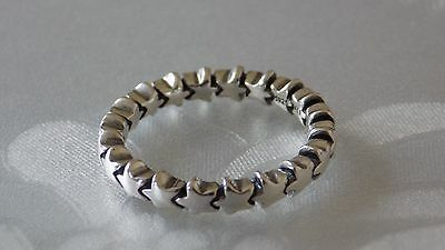 Pandora Star Stacking Sterling Silver Ring.S925 ALE